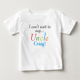 Baby Uncle Personalized Name Fun Shirt