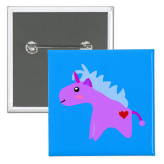Baby Unicorn 15 Cm Square Badge