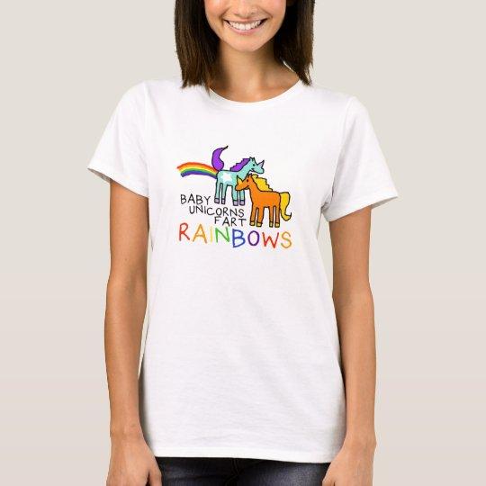 Baby Unicorns Fart Rainbows T-Shirt