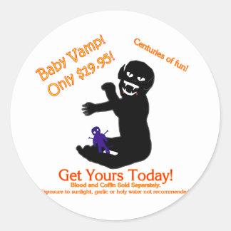 Baby Vamp, Only $19.95! Round Sticker