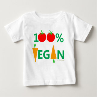 Baby Vegan Cute Cartoon Vegetables Humorous Baby T-Shirt