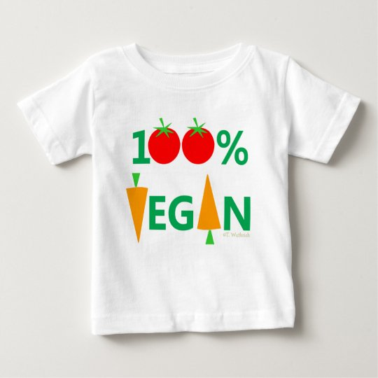 Baby Vegan Cute Cartoon Vegetables Witty TShirt