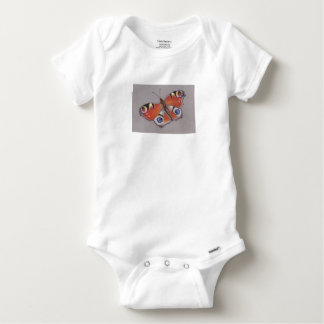 Baby Vest with Peacock Butterfly Design Baby Onesie