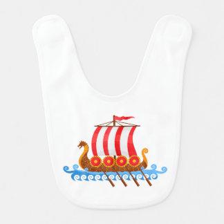 Baby Viking Ship Bib