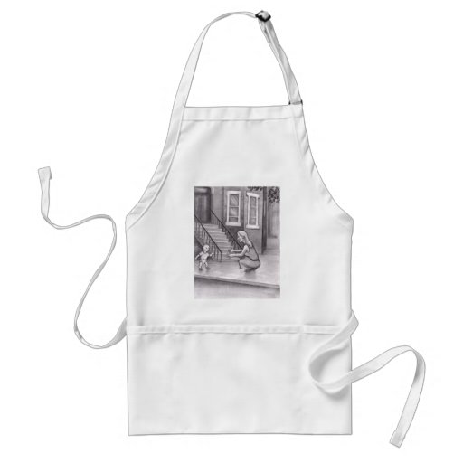 Baby Walking First Steps to Mother Aprons