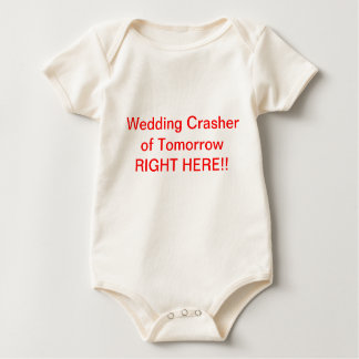 Baby wedding crasher top bodysuit