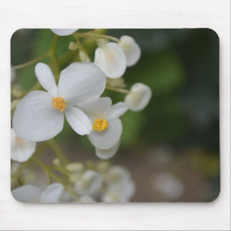 Baby White Flowers Mouse Mat