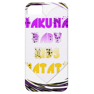 Baby White Hearts Hakuna Matata Baby Kids Design.p iPhone 5 Case