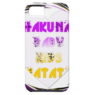 Baby White Hearts Hakuna Matata Baby Kids Design.p Tough iPhone 5 Case