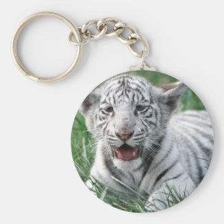 Baby White Tiger Keychains