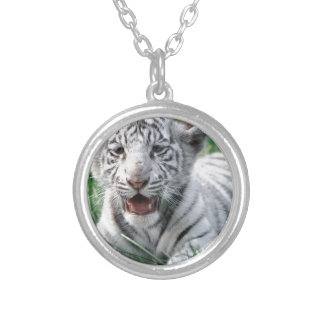 Baby White Tiger Custom Necklace