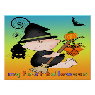 Baby Witch My 1st Halloween Poster/Print