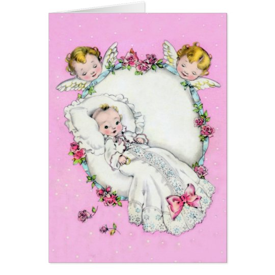 Baby with Angels ~ card for boy or