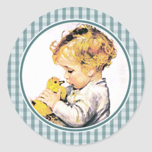 Baby first easter gifts gift ideas zazzle uk baby with chick babys first easter gift stickers negle Images
