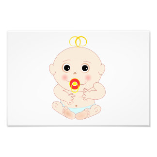 Baby with pacifier cartoon photo