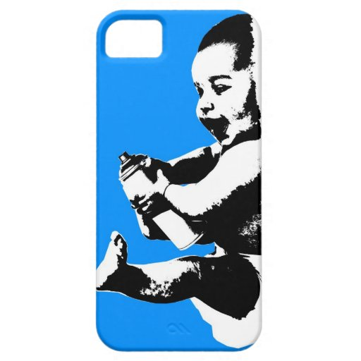 Baby With Spray Paint Can iPhone Case iPhone 5 Cases