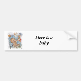 Baby with toys bumper sticker