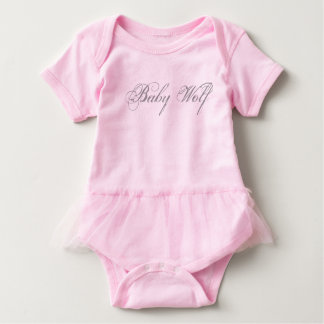 Baby Wolf Bodysuit with Tutu Skirt