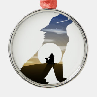 Baby wolf moon christmas ornament