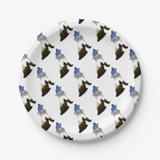 Baby wolf moon paper plate