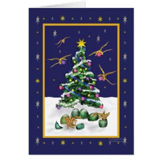 Baby Yellow Dragons Christmas Card