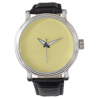 Baby Yellow Personalized Trend Color Background Watch