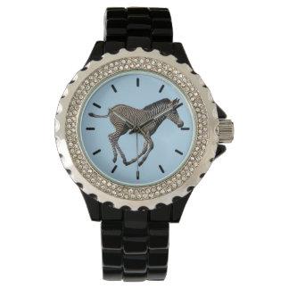 Baby Zebra Watch (Light Blue)