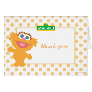 Baby Zoey Birthday Thank You Card