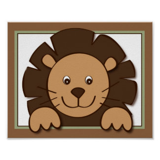Baby Zoo Lion Jungle Animal Wall Art Print 8X10