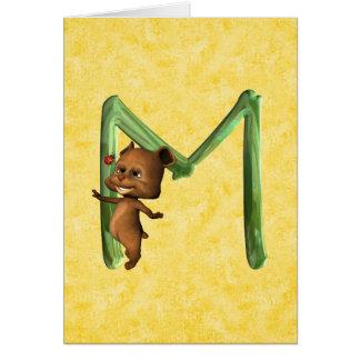 BabyBear Toon Monogram M Card