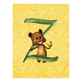 BabyBear Toon Monogram Z Postcards
