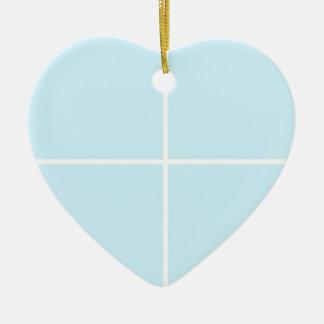 BABYblue Blanc BUY Blank or ADD TEXT n IMAGE love Ceramic Heart Decoration