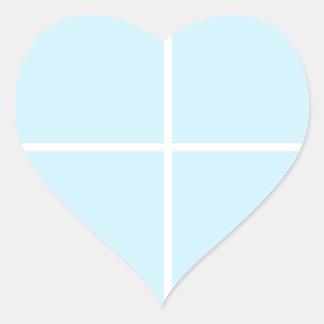 BABYblue Blanc BUY Blank or ADD TEXT n IMAGE love Heart Sticker