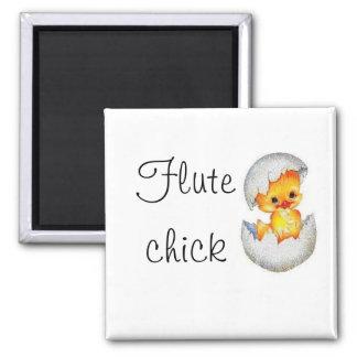 babychick, Flute, chick Refrigerator Magnet