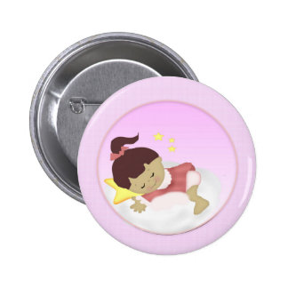 BabyGirl  Announcement/Shower Magnets 6 Cm Round Badge