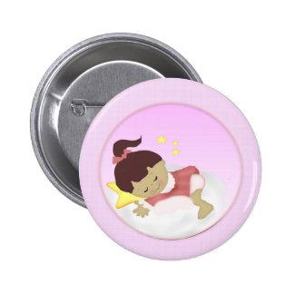 BabyGirl  Announcement/Shower Magnets 6 Cm Round Badge