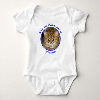 Babygrow - cute as a kitten blue baby bodysuit