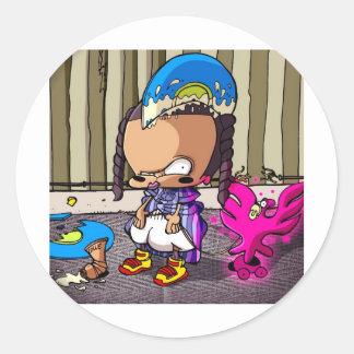 BabyHipHop Tecto  One Round Sticker