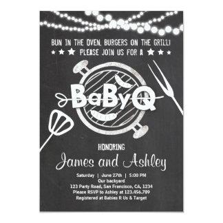 BabyQ BBQ Couples Shower Coed Baby Shower White Card