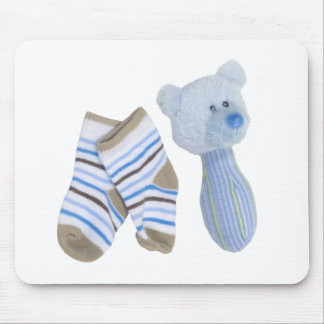 BabyRattleBooties041410 Mouse Pad