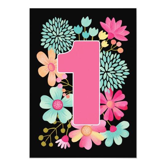 Baby's 1st Birthday Number 1 Party Custom Invite
