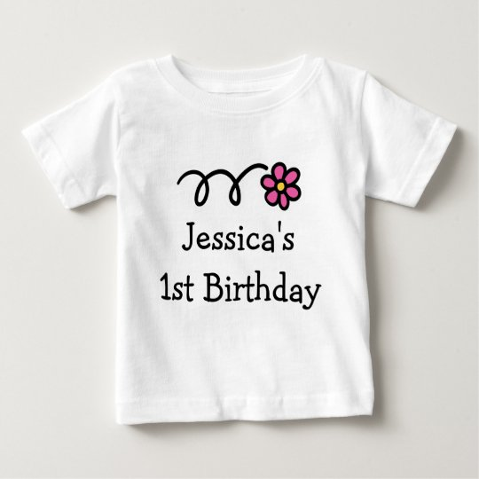 Babys 1st Birthday shirt | Personalised girl name