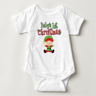 Baby's 1st Christmas Baby Elf Baby Bodysuit