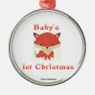 Baby's 1st Christmas Baby Fox Tree Ornament