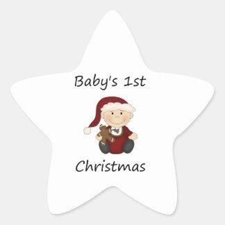 Baby's 1st Christmas (boy) Sticker