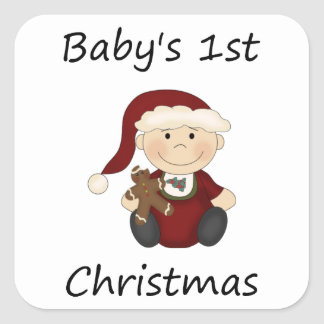 Baby's 1st Christmas (boy) Stickers