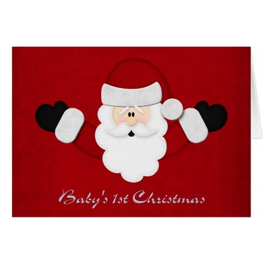 Babys 1st Christmas Card
