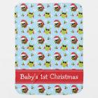 Baby's 1st Christmas Cute Owls Blanket