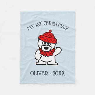 Baby's 1st Christmas fleece blanket Holiday gift