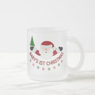 Babys 1st Christmas Frosted Glass Mug